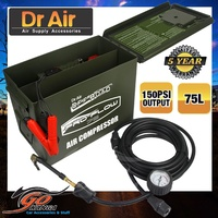 Dr Air Pro Flow 75 L/min Heavy Duty Air Compressor AC575 in AMMO BOX