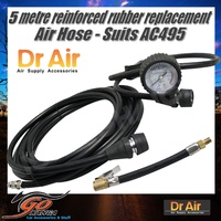 5mt long Replacement Air Hose Gauge Fittings AHR01 suits AC495 AC595 & MM Compressors