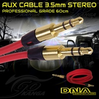 AUX Cable 3.5mm Stereo Audio Input DNA Blister Male-Male Auxiliary Car 60cm Pro