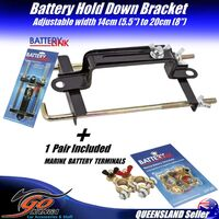 Car Battery Holder down Bracket Clamp BHS4 Metal Adjustable FBT32 Batt Terminals inc