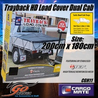 Dual Cab Heavy Duty UV Stable Ute Tray Net Mesh Load Cargo Cover CGN11 2m x 1.8