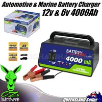 Battery Charger 12v 6v 4Amp Car Marine Bike Jetski Lead Acid AGM System DC CH6A