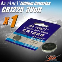 1 x CR1225 Lithium 3 volt Coin Battery Local Stock 3v 50mAh same as Duracell DL1225