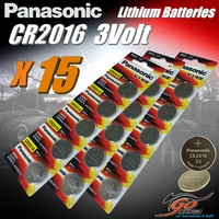 15 x CR2016 Genuine Panasonic 3v Lithium Coin Button Cell Batteries 90mAh Aus Stock
