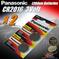 2 x CR2016 Genuine Panasonic 3v Lithium Coin Button Cell Batteries 90mAh Aus Stock