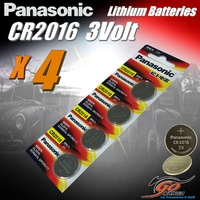 4 x CR2016 Genuine Panasonic 3v Lithium Coin Button Cell Batteries 90mAh Aus Stock
