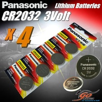 4 x CR2032 Genuine Panasonic 3v Lithium Coin Button Cell Batteries 225mAh Aus Stock