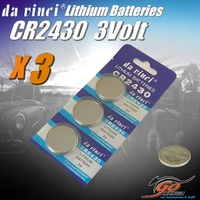 3 x CR2430 Lithium 3 volt Coin Battery Local Stock 3v 280mAh Genuine Da Vinci