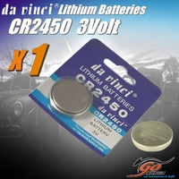 1 x CR2450 Lithium 3V volt Coin Button Cell Battery EXP12/2020 Aus Stock 220mAh