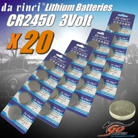 20 x CR2450 Lithium 3V volt Coin Button Cell Battery EXP12/2020 Aus Stock 220mAh