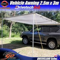 Drivetech 4x4 quality 2.5m x 3m awning DT-AW003 280GSM Ripstop Polyester
