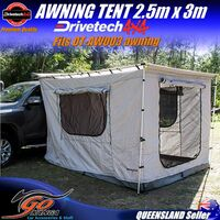 Drivetech 4x4 quality 2.5m x 3m Tent DT-AWTENT2 Suits DT-AW003 Awning 280GSM
