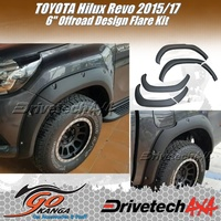 DRIVETECH 4X4 DT-FK1OE 6 INCH Off Road Flare Kit ABS fits TOYOTA HILUX 2015-17