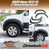 VEHICLE	ISUZU D-MAX TFII 06/12-10/16 DRIVETECH 4X4 DT-FK9OR 6 INCH Off Road Flare Kit ABS Black