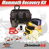 4WD Recovery Kit Drivetech 4x4 DT-RKLGE quality recovery strap winch ext hitch