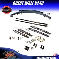 GREAT WALL V240 K2 06/09-12/14 DRIVETECH 4X4 DTSK-HOL02H LIFT KIT H/DUTY COMFORT