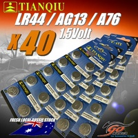 40 X LR44 /A1G13 /LR44H /A76 Alkaline Button Cell 1.5V Batteries Fresh Aus Stock
