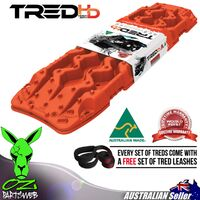 Genuine TRED HD Recovery Boards TREDHDFR FIERY RED 4X4 4WD Mud tracks Sand Trax HD SERIES