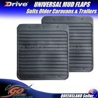 UNIVERSAL RUBBER MUD FLAPS 1x PAIR UMF3 SIUTS OLD RETRO ClASSIC TRAILERS & VANS