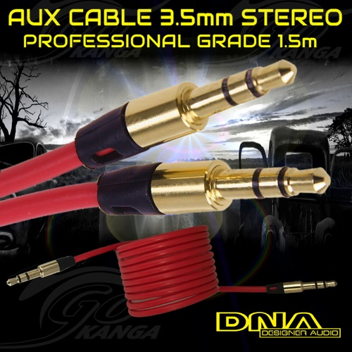 AUX Cable 3.5mm Stereo Audio Input DNA Blister Male-Male Aux Car 1.5m ALR3115