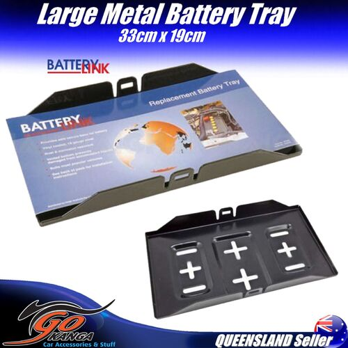 Battery Tray BT095 Metal Universal Fits Most Vehicles Rust Corrosion Resistant