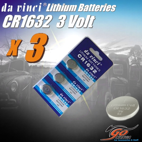 3 x CR1632 Lithium 3 volt Coin Battery Local Stock 3v same as DL1632 & ECR1632