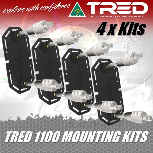 TRED MOUNTING 4x KITS TMK11 FOR 2 SETS OF TREDS 1100 RECOVERY MUDTRAX BRACKET