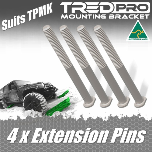 TREDPRO 4 X EXTENSION PINS TO SUIT MOUNTING KIT TO MOUNT 2 SETS OF TREDS TPMKEP
