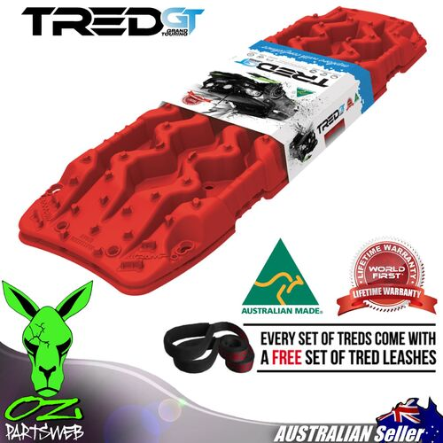 Genuine TRED GT Recovery Boards TREDGTR RED 4X4 4WD Mud tracks Sand Trax GT SERIES